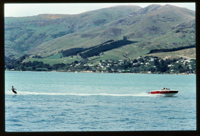 Slide: Water Skiing Lyttelton Harbour