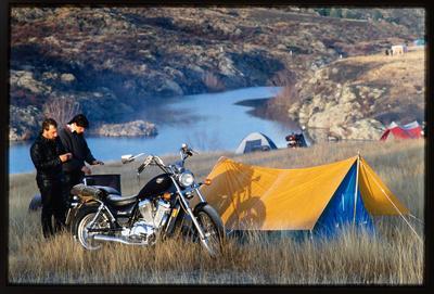 Slide: Motorbike Tour Campsite
