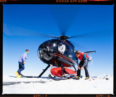 Transparency: Helicopter On Snow