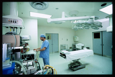 Slide: Man In Medical Facility