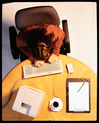Transparency: Woman At Computer