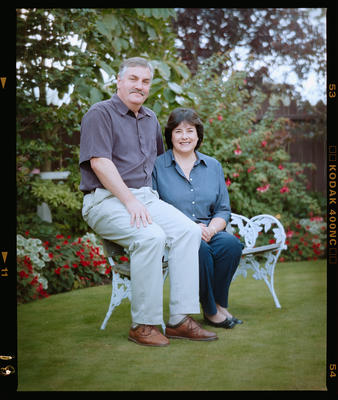 Negative: Unnamed Man And Woman Carey Family