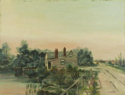 Painting: Ferry Road looking towards Christchurch 1860