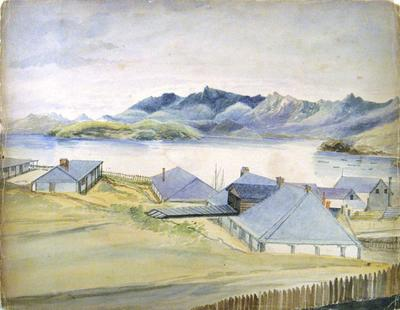 Painting: Lyttelton and Harbour
