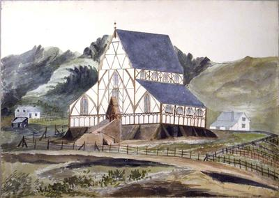 Painting: Holy Trinity Church, Lyttelton