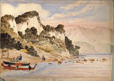 Painting: Amuri Bluff, New Zealand