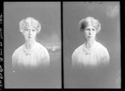 Glass Plate Negative: Miss Du Feu