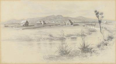 Painting: Christchurch in 1852