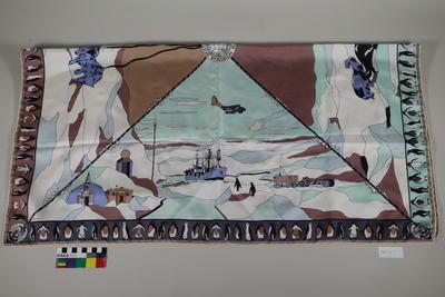 Silk Scarf: Antarctic Society