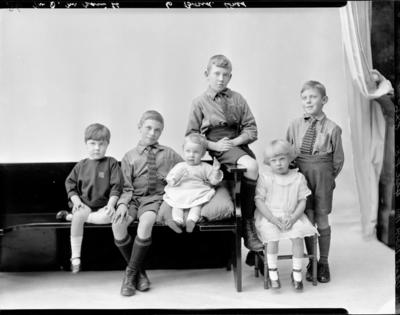 Glass Plate Negative: D M Bain family