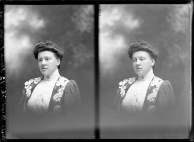 Glass Plate Negative: Miss Brodrick