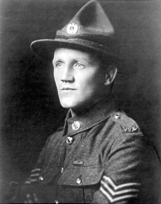 Photographic portrait (copy): Henry James Nicholas VC, MM