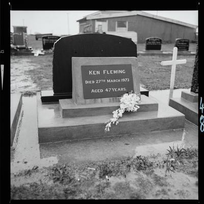 Negative: Ken Fleming Headstone