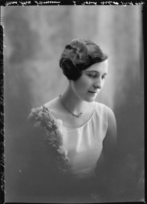 Glass Plate Negative: Miss Joyce Jamieson