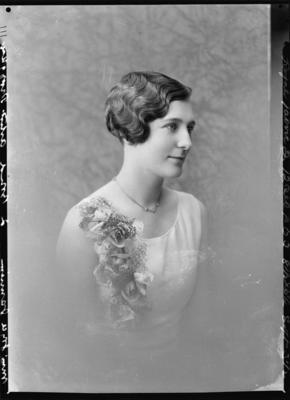 Glass Plate Negative: Miss Joyce Jamieson