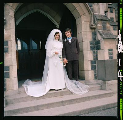 Negative: Otte-Saunders Wedding; 26 February 1975; 2019.10.30861