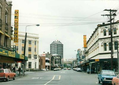 Colour Photograph: High Street, View North From Corner of Tuam Street, 1985