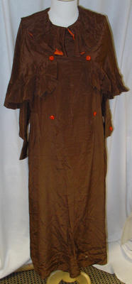 Dress: Brown Crepe-de-Chine