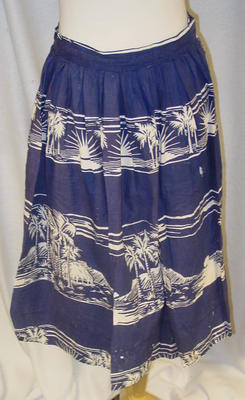 Skirt: Hawaiian print