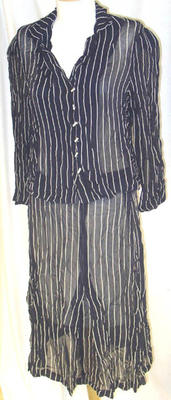 Suit: White-Striped Navy