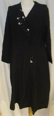 Dress: Black Beaded