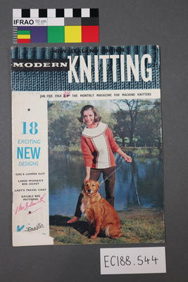 "magazine, knitting pattern:  ""Modern Knitting.  The monthly magazine for machine knitters"", January-February 1964 (NZ edition)"