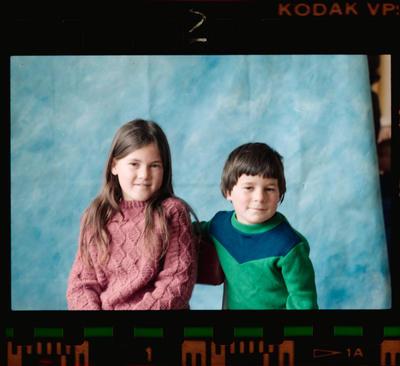 Negative: Owenga School Boy and Girl