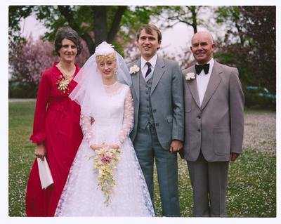 Negative: Shufflebotham-Jamieson Wedding; 16 October 1982; 2019.10.37601
