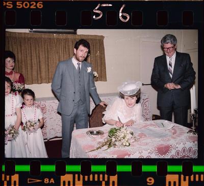 Negative: Cockburn-Braithwaite Wedding