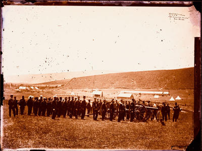 Glass Plate Negative: Artillery Company Canterbury Volunteer Regiment, Hillsborough