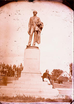 Glass Plate Negative: John Robert Godley Statue