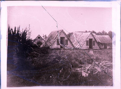 Glass Plate Negative: V Huts
