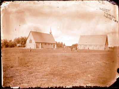 Glass Plate Negative: Christ's College Chapel and Schoolroom