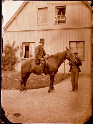 Glass Plate Negative: Archdeacon Wilson on a Horse