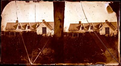 Glass Plate Negative Stereograph Slide: Land Office