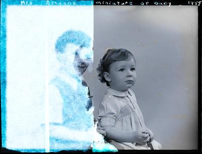 Glass negative: Mrs Stevens, baby