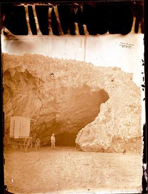 Glass Plate Negative: Cave, Sumner