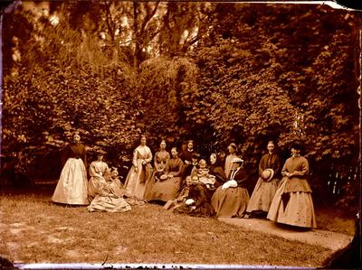 Glass Plate Negative: Group of Women