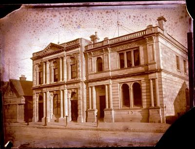 Glass Plate Negative: New Zealand Insurance Buildings