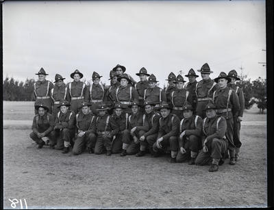 Glass negative: K Force, soldiers