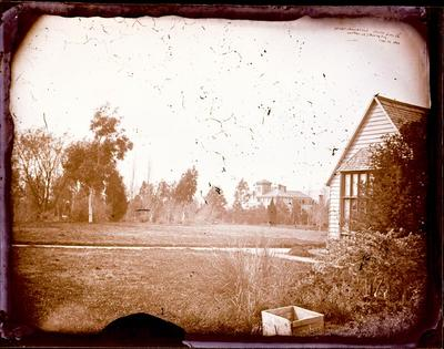 Glass Plate Negative: Christchurch Club House