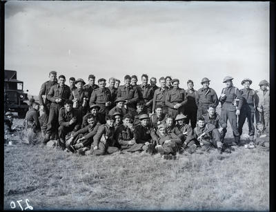 Glass negative: K Force training, company relax in the field