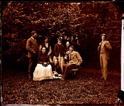 Glass Plate Negative: Group of Eight
