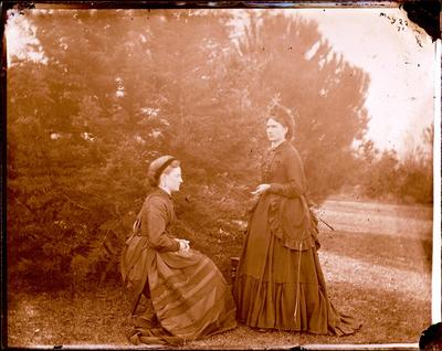 Glass Plate Negative: Two Women