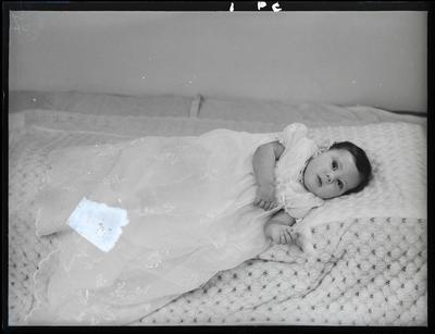 Glass negative: Mrs Rause, baby