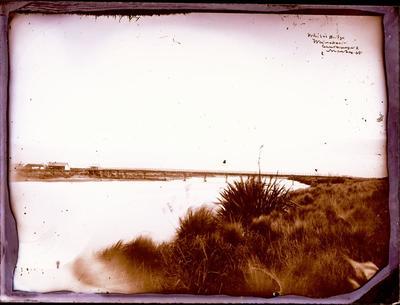 Glass Plate Negative: White's Bridge, Waimakariri