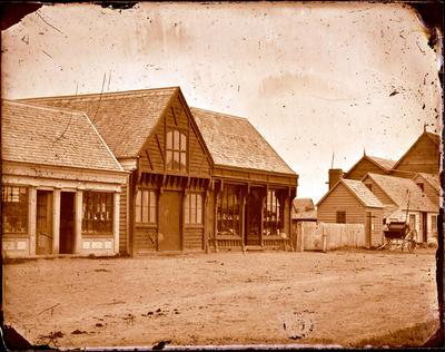 Glass Plate Negative: Gould & Miles Store