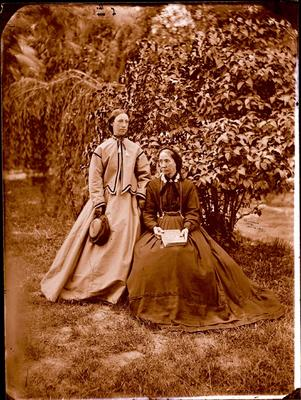 Glass Plate Negative: Mrs and Miss Parkinson