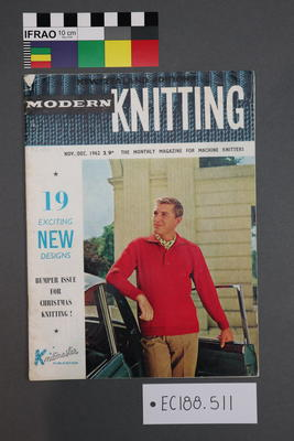 "magazine, knitting pattern: ""Modern Knitting"", ""The Monthly Magazine for Machine Knitters"" Nov-Dec 1962 (NZ edition)"