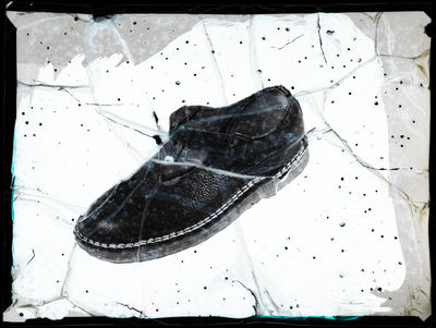 Film negative: Jordan's Shoes, shoe